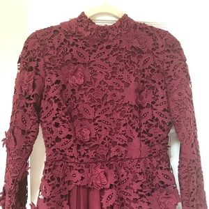 Long burgundy dress